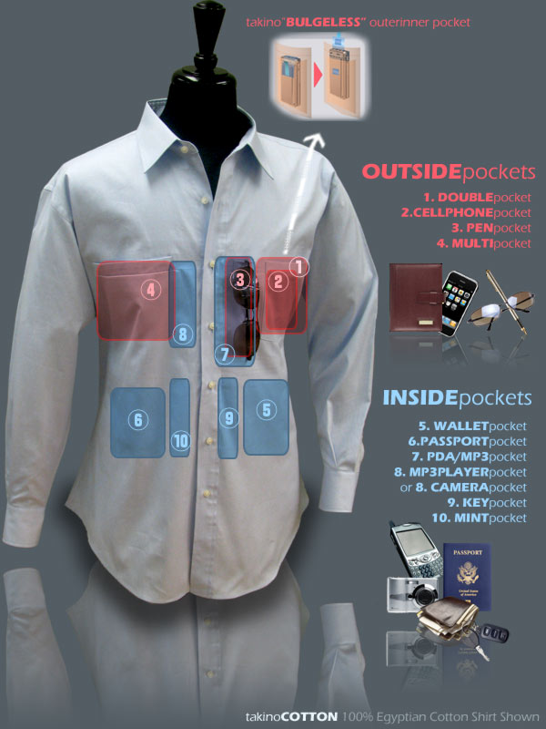 hidden pocket shirts